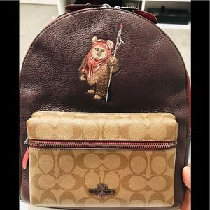 SOLD Coach Star ✨ Wars Ewok Leather Backpack